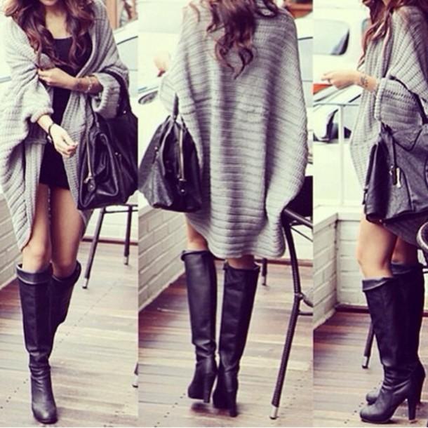 jacket sweater cardigan grey shawl gray cardigan grey sweater grey knitted sweater shoes coat