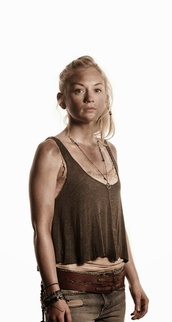 tank top,beth greene,flowy top,button up,the walking dead,brown top,belt