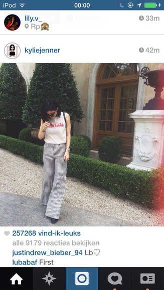 stripes kylie jenner white shirt kendall and kylie jenner