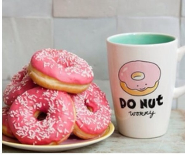 jewels cup coffee donut breakfast mug