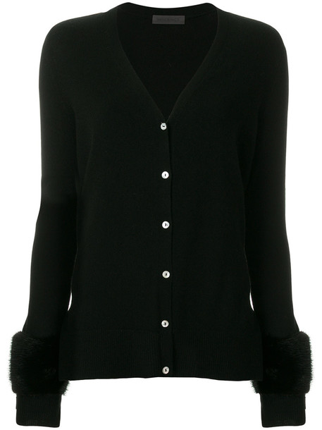 SIMONETTA RAVIZZA cardigan cardigan fur women black sweater