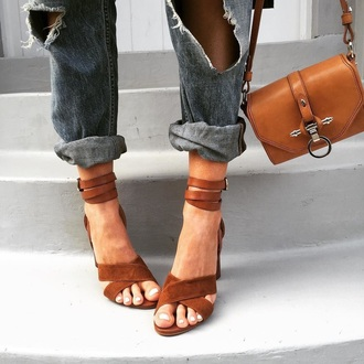 jeans boyfriend jeans mom jeans ripped jeans suede shoes heels purse bags and purses strappy heels
