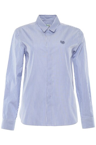 shirt striped shirt embroidered tiger top