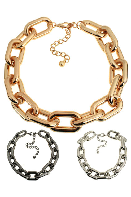 ROMWE | Wide Interlocking Ring Necklace, The Latest Street Fashion