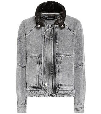 jacket denim jacket denim grey