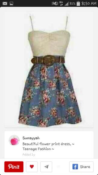 floral cream straps Belt