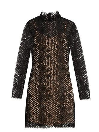 dress mini dress mini long lace black