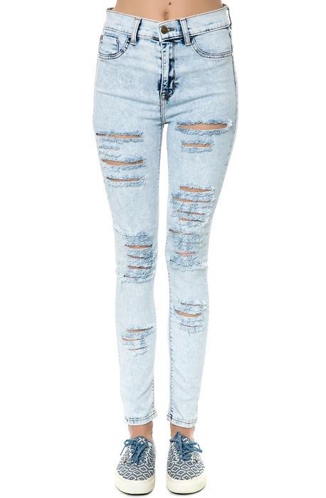 Pistola denim jeans hi rise denim in sk8 light blue