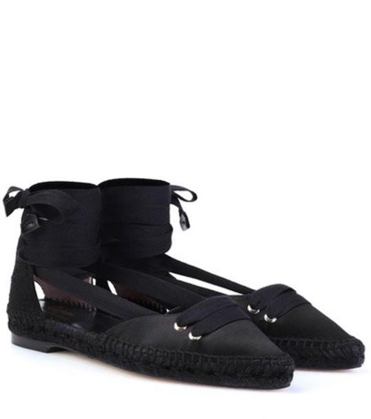 espadrilles satin black shoes