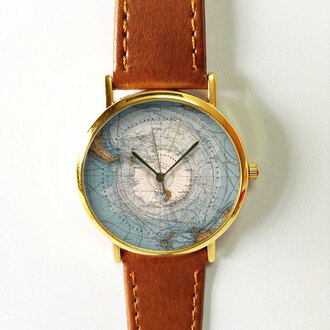jewels watch handmade style fashion vintage etsy freeforme south pole map south pole map summer spring new gift ideas