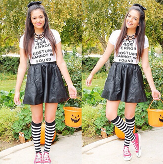 shirt skirt shoes bethany mota necklace socks jewels