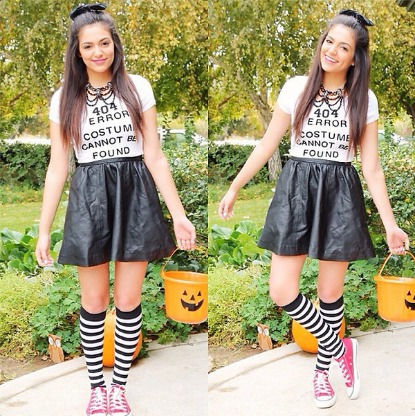 shirt skirt shoes bethany mota necklace socks jewels shirt