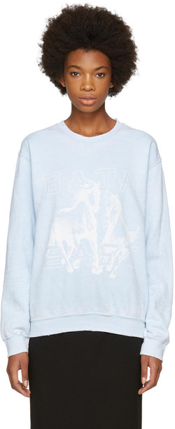 Baja East sweatshirt blue sweater