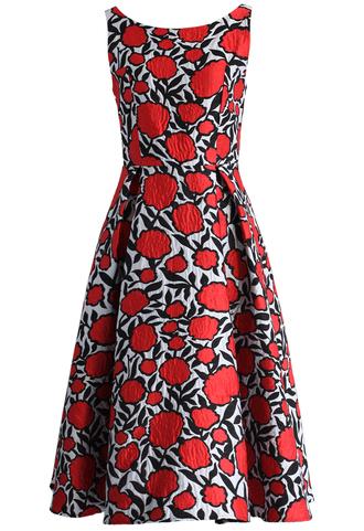 dress rose my heart jacquard prom dress chicwish rrom dress rose party