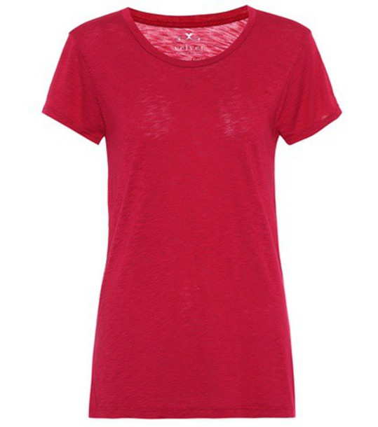 Velvet t-shirt shirt t-shirt cotton red top