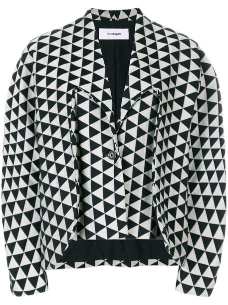 Chalayan jacket women cotton grey