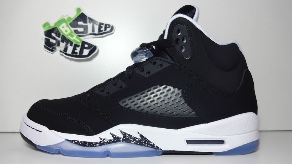 8215c6a2dfe4d1 ... Air Jordan Retro V 5 Oreo Sz Sz DS 440888 035 Black White Bel Air GS ...