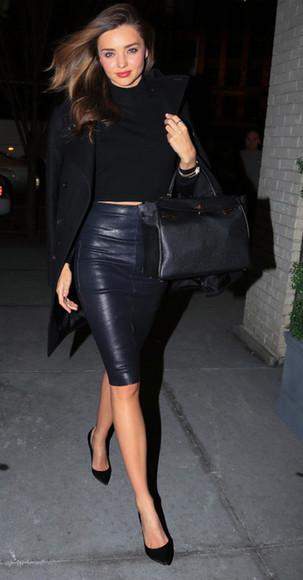 bag black black bag skirt top leather skirt
