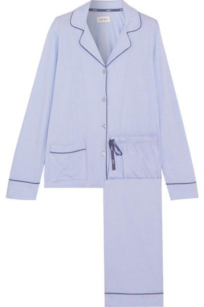 DKNY pajamas new classic light cotton blue light blue underwear