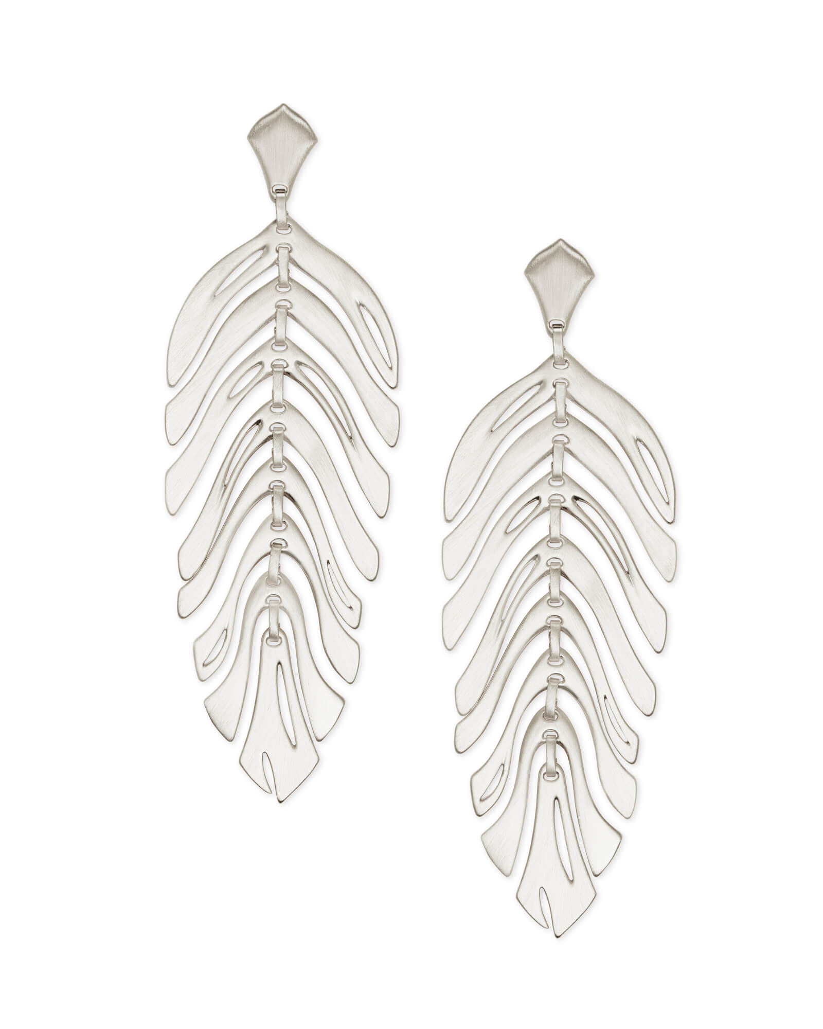 Lotus Statement Earrings in Silver | Kendra Scott