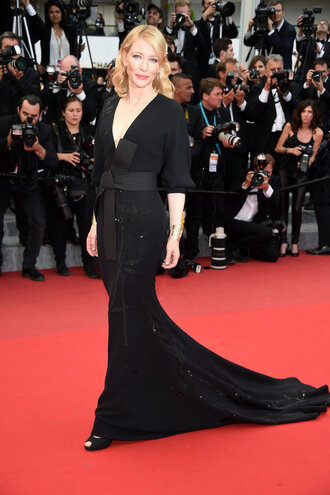 dress gown black dress cate blanchett red carpet dress cannes