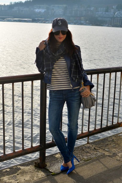 my style pill blogger scarf cap heels