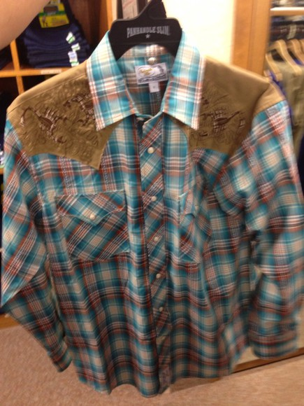 shirt country western cowboy flannel oldies old panhandle panhandle slim slim long sleeve menswear boy texas oldschool