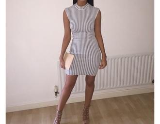dress polo neck bodycon striped dress bodycon dress