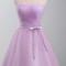 Lavender sweetheart bow knot short hoco dresses ksp381 - £82.00