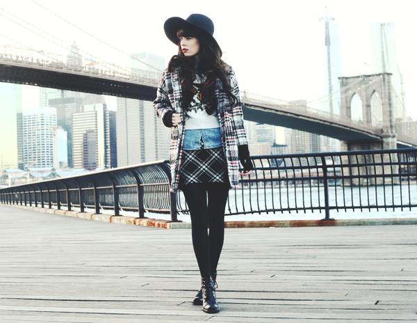 jag lever sweater skirt coat shirt hat