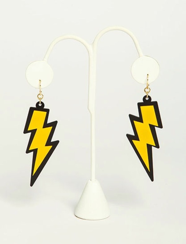 jewels earrings lighting lightning bolt