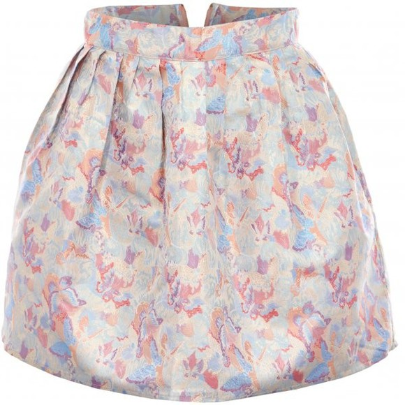 butterfly skirt neon rose metallic butterfly print jacquard skirt neon rose print skirt mini skirt