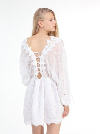 dress chiclook closet white lace lace dress whie lace dress vintage boho girly girl