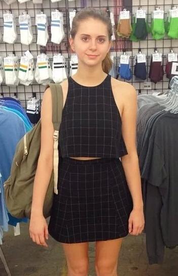 fashion Summer Plaid O neck short vest shirt blouses tops A line ...