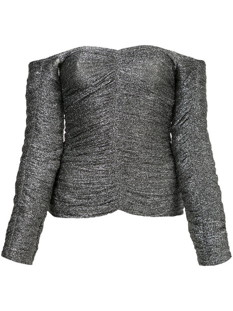 Georgia Alice top women grey metallic
