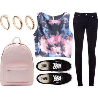 bag pink bag backpack pastel pink bag