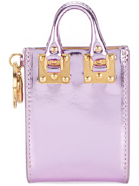 Sophie Hulme women leather purple pink bag