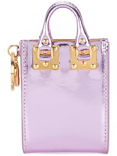 women leather purple pink bag