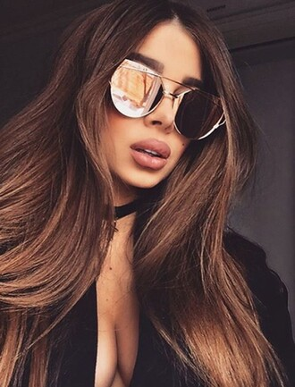 sunglasses girly girl girly wishlist aviator sunglasses jewels choker necklace black choker jewelry necklace absolutemarket