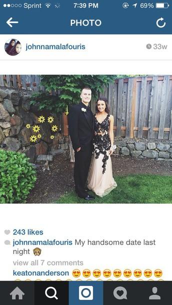 dress flower prom dress