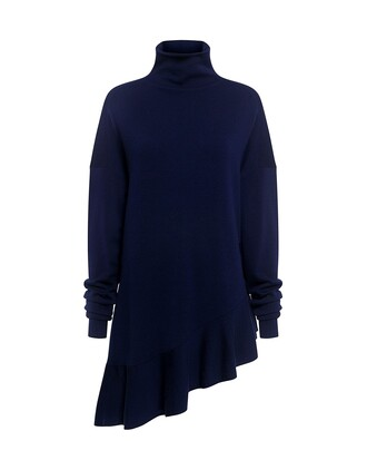 sweater flare navy wool
