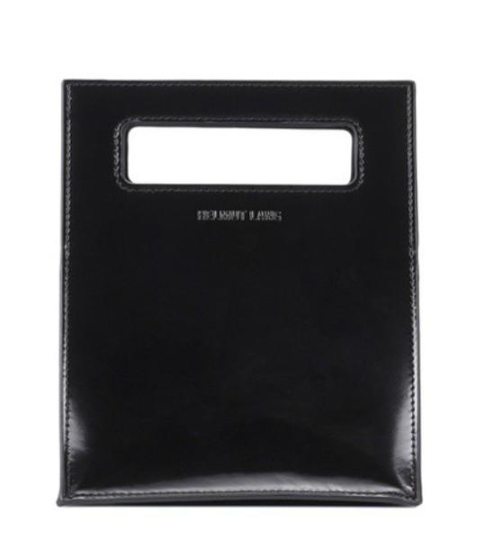 Helmut Lang mini leather black bag