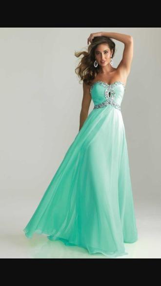 dress teal dress prom dress