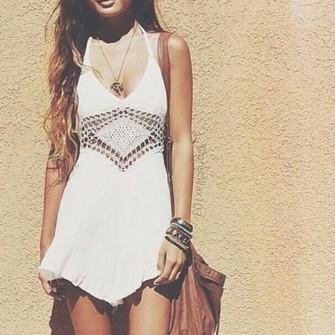 white dress deep v neck dress jumpsuit crochet middle haute rogue see through middle white romper deep v neckline deep v summer romper crochet romper lace middle crochet midriff the middle