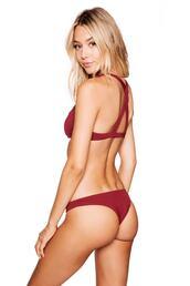 swimwear,burgundy,bikini bottoms,cheeky,frankies bikini,bikiniluxe