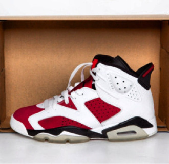 shoes sneakers high top sneakers nike sneakers air jordan jordans jordan's red and white jordans red and white red white