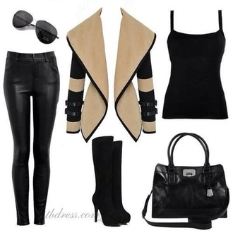 jacket beige jacket black and brown rich fashion glamour black jacket luxury