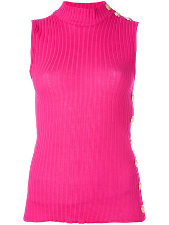 tank top top women cotton purple pink