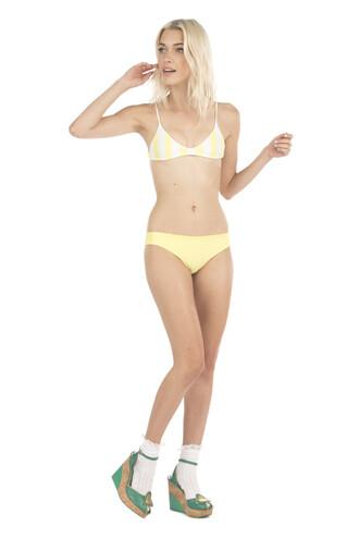 top bikini top lolli swim reversible yellow bikiniluxe