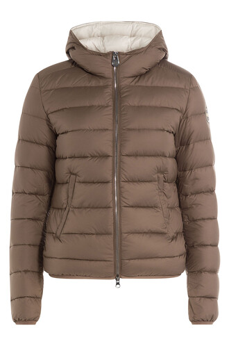 jacket down jacket quilted brown